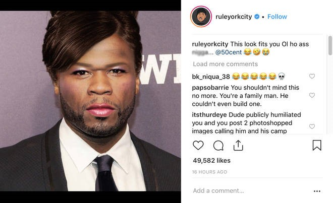 Now Ja Rule Is Clapping Back And Posting Some Pictures Mocking 50 Cent And Comparing His Looks To More Feminine Ones While His Comeback Is Not As Strong