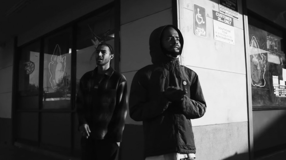 "Earl Sweatshirt and Navy Blue in the video for the Alchemist single ""Nobles."""