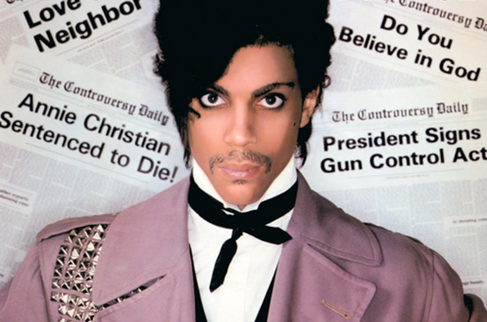 Prince on the cover of his 1981 album, Controversy.